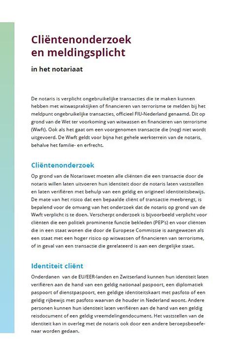 brochure clientenonderzoek en meldingsplicht-cover