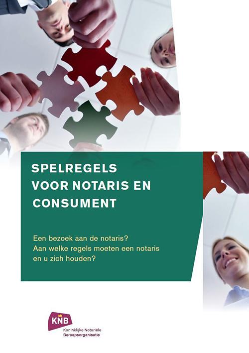 brochure spelregels voor notaris en consument-cover